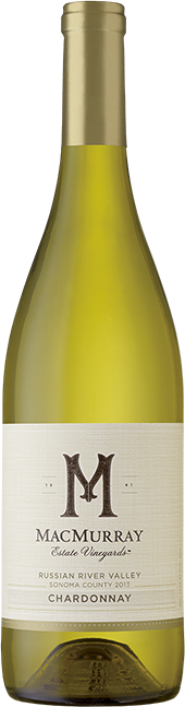 Bottle of Russian River Valley Chardonnay from MacMurray Estate Vineyard