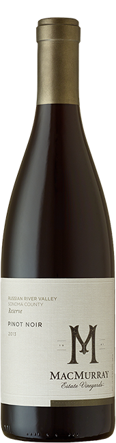 Bottle of Russian River Valley Reserve Pinot Noir from MacMurray Estate Vineyard