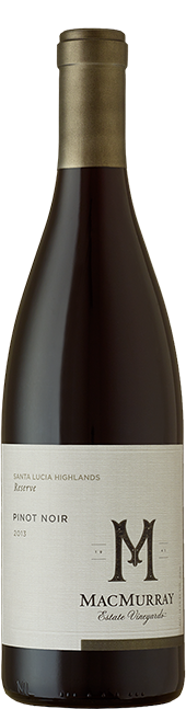 Bottle of Santa Lucia Highlands Reserve Pinot Noir from MacMurray Estate Vineyard