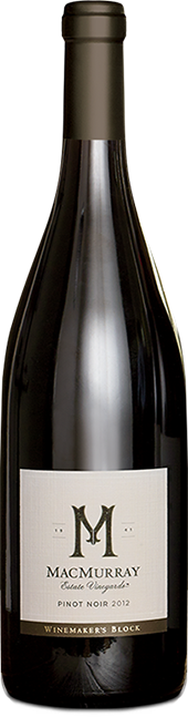 Bottle of Winemaker's Block Pinot Noir from MacMurray Estate Vineyard